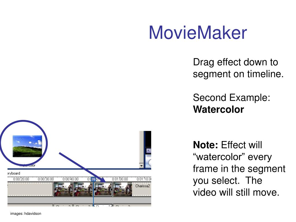 Drag effect down to segment on timeline.