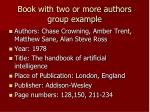 book with two or more authors group example