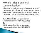 how do i cite a personal communication