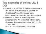 two examples of online url doi