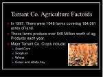 tarrant co agriculture factoids