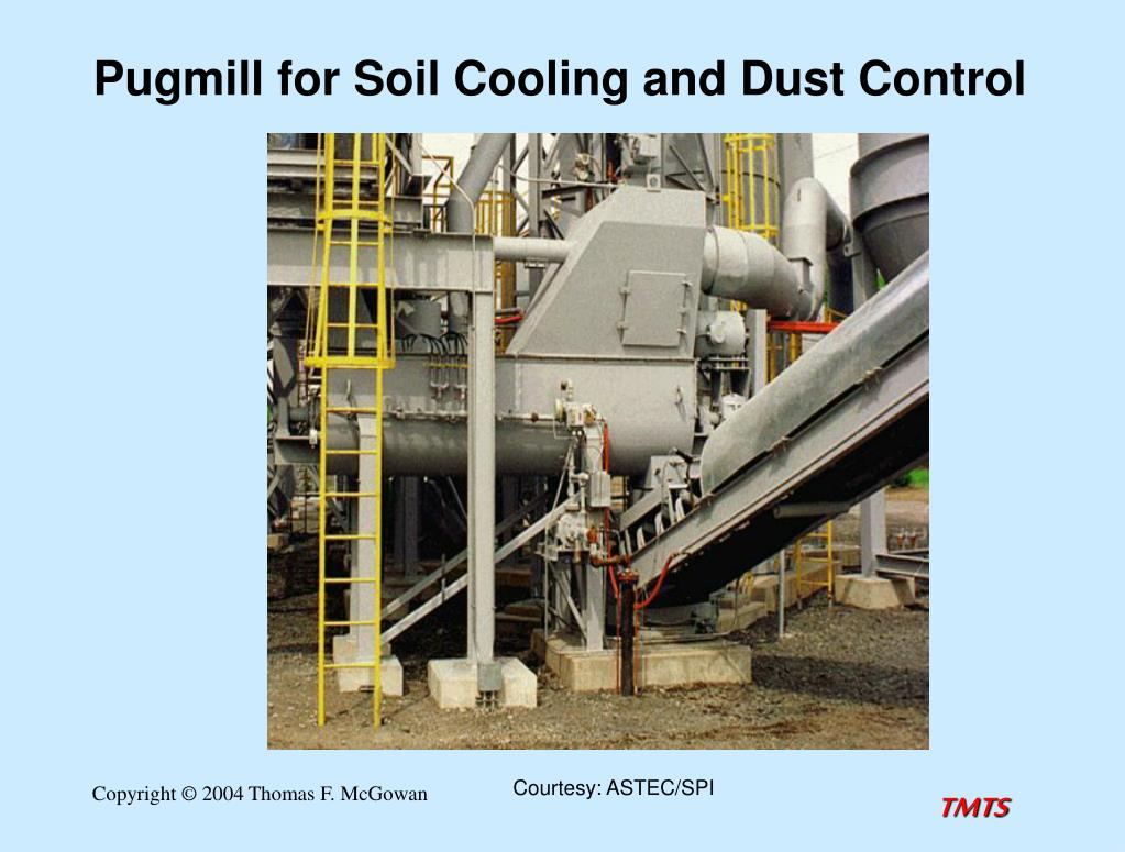 Pugmill for Soil Cooling and Dust Control