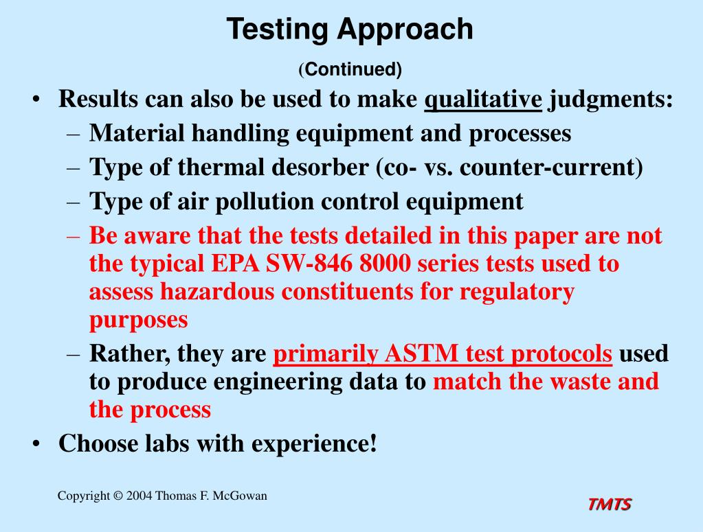 Testing Approach