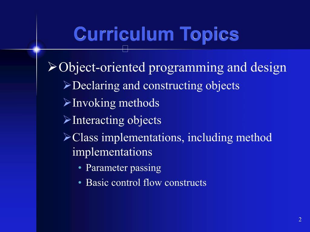 Curriculum Topics