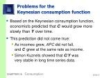 problems for the keynesian consumption function