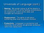 universals of language cont