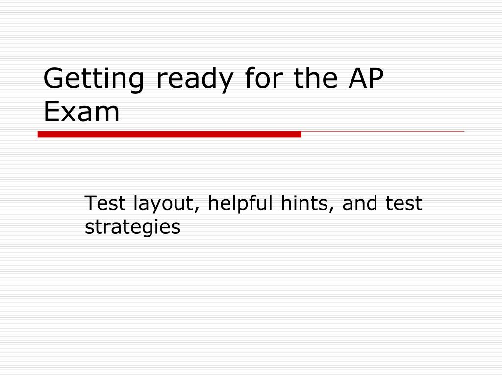 getting ready for the ap exam l.
