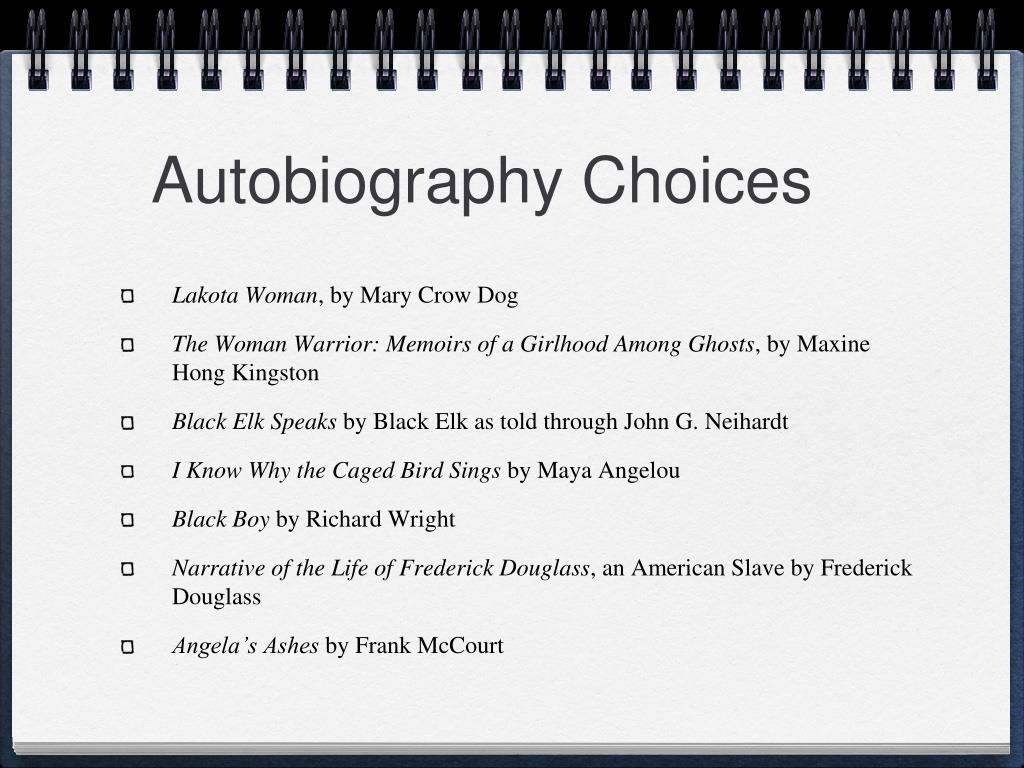 Autobiography Choices