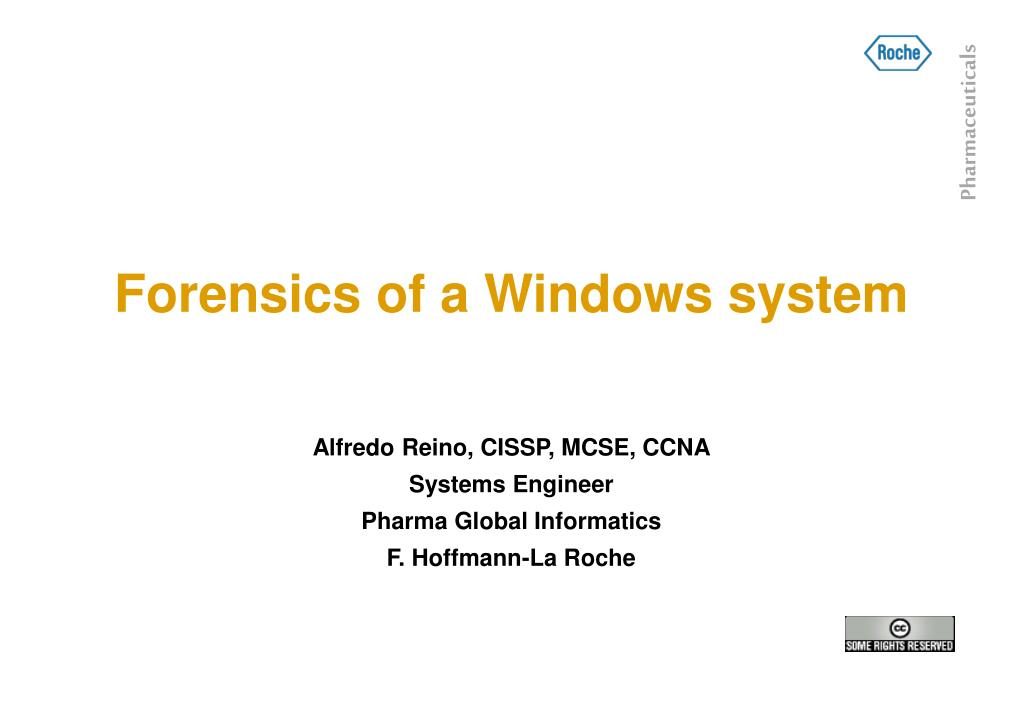 forensics of a windows system l.