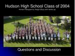 hudson high school class of 2004 human histogram by height boys with hands up