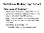 statistics at hudson high school8