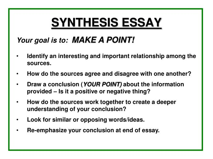Synthesis essay ideas