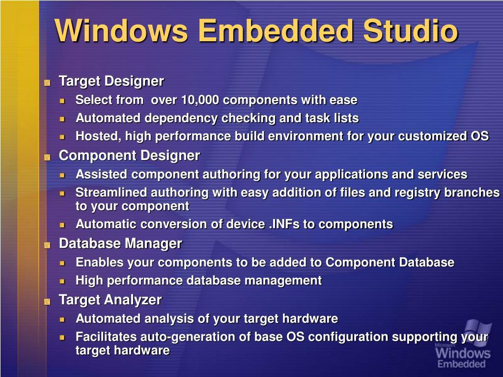 Windows Embedded Studio