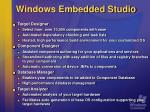 windows embedded studio