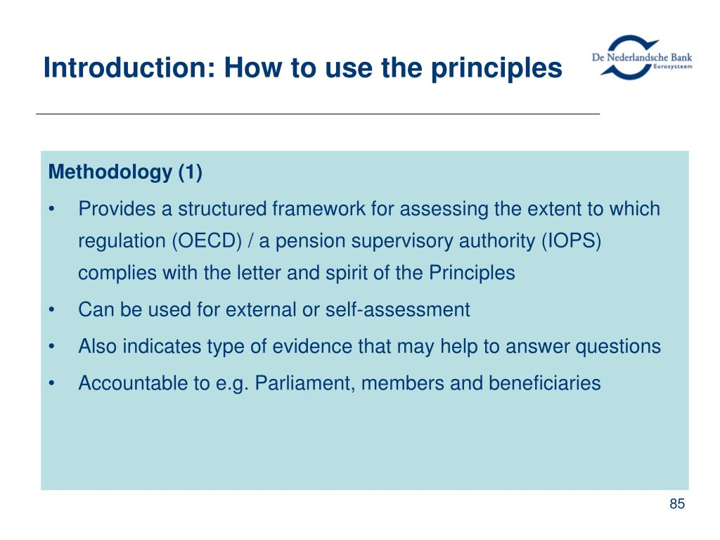 Introduction: How to use the principles