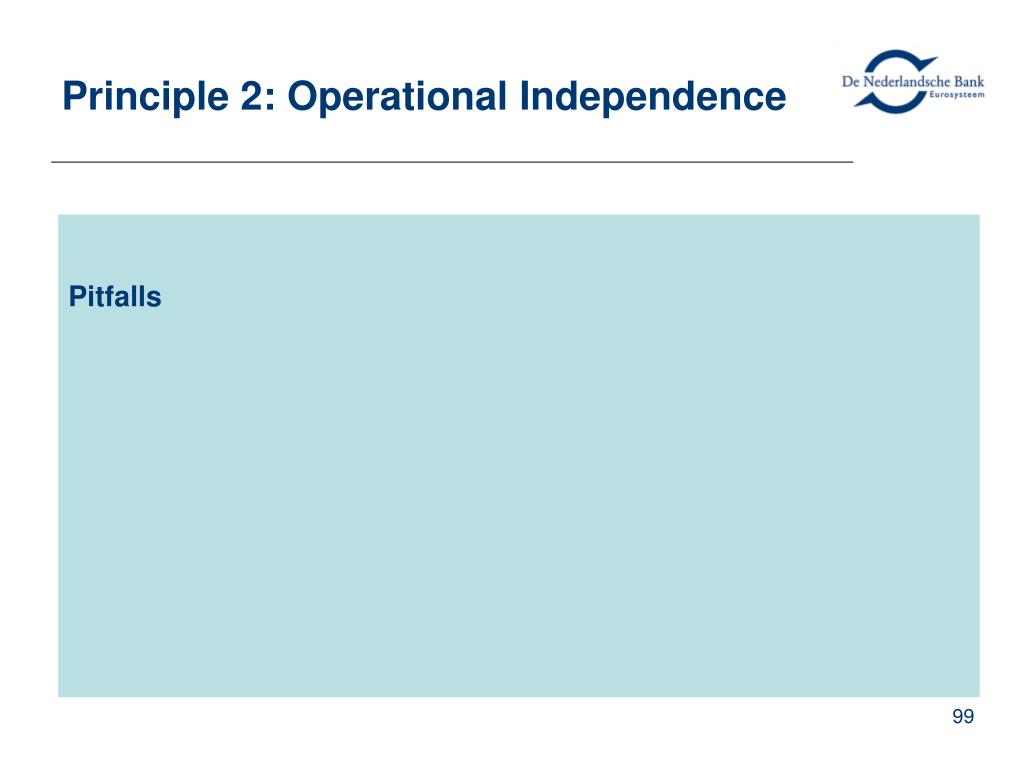 Principle 2: Operational Independence
