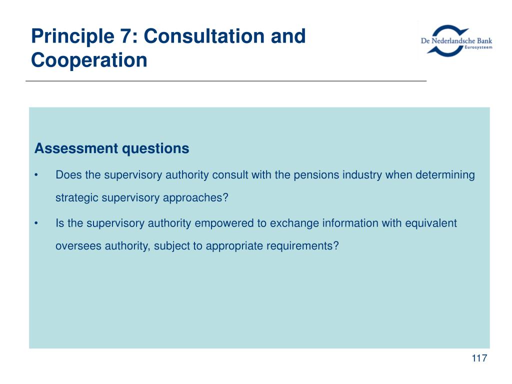 Principle 7: Consultation and Cooperation