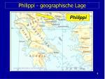 philippi geographische lage