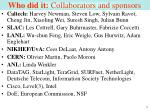who did it collaborators and sponsors