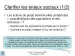 clarifier les enjeux sociaux 1 2