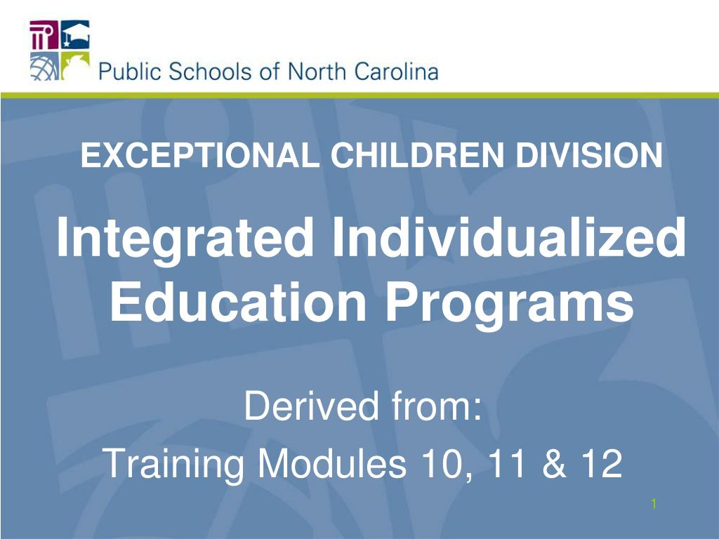 exceptional children division integrated individualized education programs l.