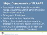 major components of plaafp