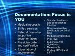 documentation focus is you