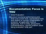 documentation focus is you31
