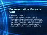documentation focus is you33