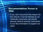 documentation focus is you34
