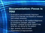documentation focus is you35