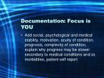 documentation focus is you36