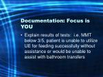 documentation focus is you38