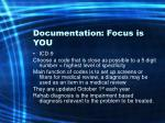 documentation focus is you41
