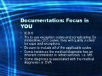 documentation focus is you42