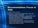 documentation focus is you44