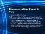 documentation focus is you49