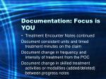 documentation focus is you51