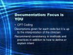 documentation focus is you54