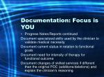 documentation focus is you56