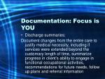 documentation focus is you58