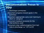 documentation focus is you59