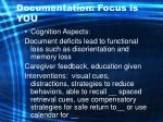 documentation focus is you60