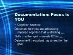 documentation focus is you61