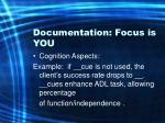 documentation focus is you62