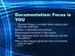 documentation focus is you65
