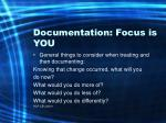 documentation focus is you66