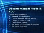 documentation focus is you67