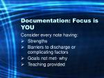 documentation focus is you68