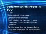 documentation focus is you69